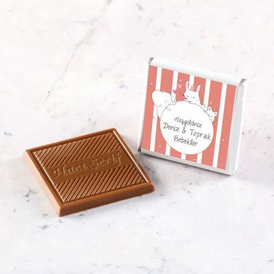 İkiz Dökme Bebek Çikolatası+Kolonya (70 Madlen Çikolata)