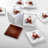 Hacı Şerif - İlk Diş Fotoğraflı Erkek Bebek Çikolatası (32 Adet Madlen+Sunum Kutusu)