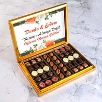 Hacı Şerif - İsimli Kız İsteme Special Çikolata 480G (Gold Kutu)