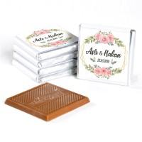 İsimli Nikah Çikolatası (72 Adet Madlen Çikolata) - Thumbnail
