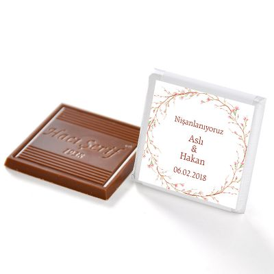 İsimli Söz Nişan Dökme Çikolatası (70 Madlen Çikolata)