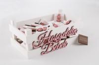- İsme Özel Ahşap Kasada Bebek Çikolatası - Model : 66