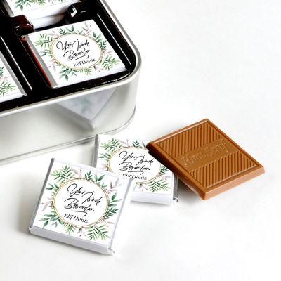 İsme Özel Yeni İş Hediyesi 32 Adet Madlen Çikolata (Metal Kutu)