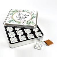 Hacı Şerif - İsme Özel Yeni İş Hediyesi 32 Adet Madlen Çikolata (Metal Kutu)