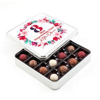 Hacı Şerif - 8 Mart Kadınlar Günü Hediyesi Karışık Special Truffle Çikolata (Metal Kutu)