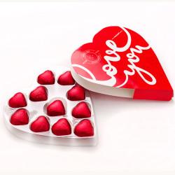 Kalp Kutulu Kalp Sütlü Çikolata - Thumbnail