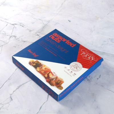 Karışık Çerezli Çifte Kavrulmuş Lokum (500 g)- Renkli Kutu