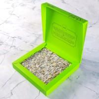 Hacı Şerif - Çifte Kavrulmuş Antep Fıstıklı Lokum (500 g)- Renkli Kutu