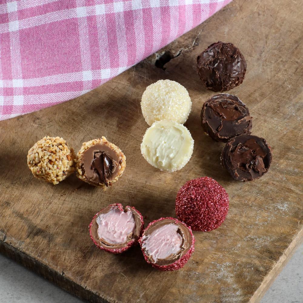 Karışık Special Truffle Çikolata Bordo Kutu (420G) - Thumbnail