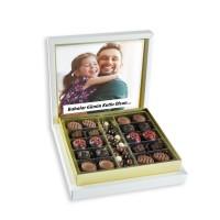 - Kendi Fotoğrafınızla Babalar Günü Hediyesi (Kahve Drajeli Special Çikolata 290g) Krem Kutu