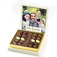 - Kendi Fotoğrafınızla Bayram Hediyesi (Special Çikolata 285g) Krem Kutu