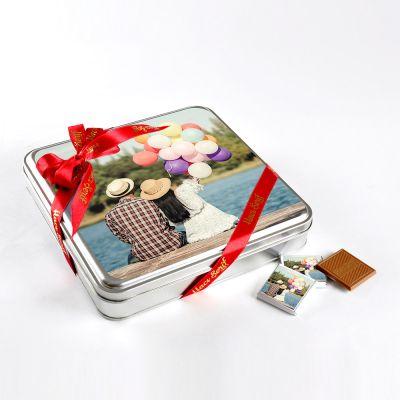 Kendi Fotoğrafınızla Doğum Günü Hediyesi (32 Adet Madlen Çikolata) Metal Kutu