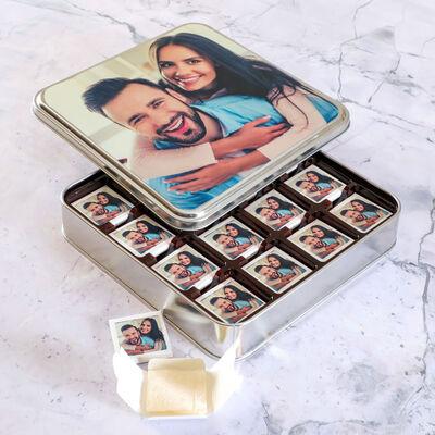 Kendi Fotoğrafınızla Hediye Lokum (Metal Kutu - 16 Adet)