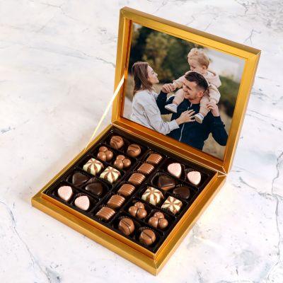 Kendi Fotoğrafınızla Hediye Special Çikolata 285g (Gold Kutu)