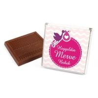 Kız Bebek Dökme Bebek Çikolatası (70 Adet Madlen Çikolata) - Thumbnail