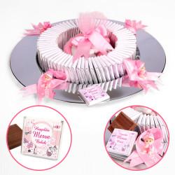 - Kız Bebek (Tepsi) Çikolatası (70 Madlen Çikolata + Draje + Dekor)