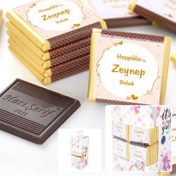 Hacı Şerif - Kız Bebek Dökme Çikolata (70 Bitter Madlen Çikolata)
