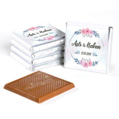 İsimli Kız İsteme Çikolatası (72 Adet Madlen Çikolata) Gold Kutu