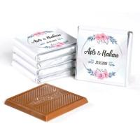 İsimli Kız İsteme Çikolatası (72 Adet Madlen Çikolata) Gold Kutu - Thumbnail