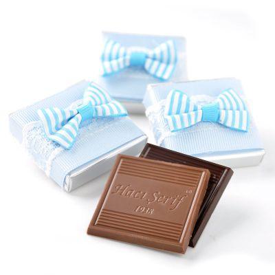 Mavi Kurdeleli Bebek Çikolatası