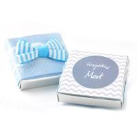Mavi Kurdeleli Bebek Çikolatası - Thumbnail