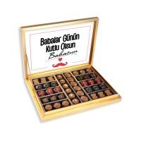 Hacı Şerif - Mesajlı Babalar Günü Special Çikolata 460gr Gold Kutu