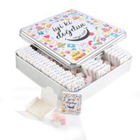 - Kare Metal Kutuda Doğum Günü (60 Adet Kutu Lokum + Mini Meyveli Lokum)
