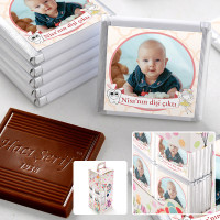 - İlk Diş Fotoğraflı Kız Bebek Çikolatası (70 Adet Madlen)