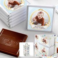Hacı Şerif - Mevlid Fotoğraflı Erkek Bebek Çikolatası (70 Adet Madlen)