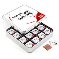 Hacı Şerif - Ofis ve Yeni İş Hediyesi 32 Adet Madlen Çikolata (Metal Kutu)