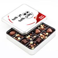 Hacı Şerif - Ofis ve Yeni İş Hediyesi Kahve Drajeli Special Çikolata (Metal Kutu)