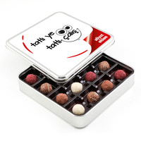 Hacı Şerif - Ofis ve Yeni İş Hediyesi Karışık Special Truffle Çikolata (Metal Kutu)