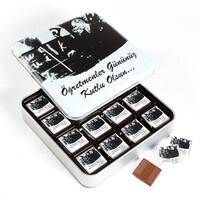 Hacı Şerif - Öğretmenler Günü Hediyesi (32 Adet Madlen Çikolata Metal Kutu)