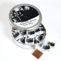 Hacı Şerif - Öğretmenler Günü Hediyesi (Yuvarlak Metal) 40 Adet Madlen Çikolata