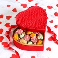 Hacı Şerif - Sevgililer Günü Hediyesi Karışık Antep Fıstıklı Roş Çikolata (Kalp Kutu)