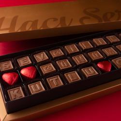 Sevgililer Günümüz Kutlu Olsun Harf Çikolata - Thumbnail
