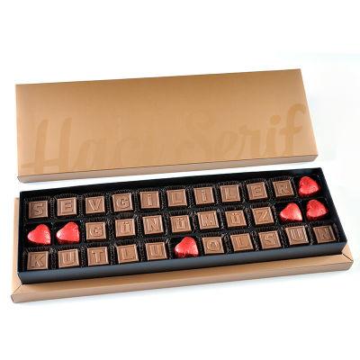 Sevgililer Günümüz Kutlu Olsun Harf Çikolata