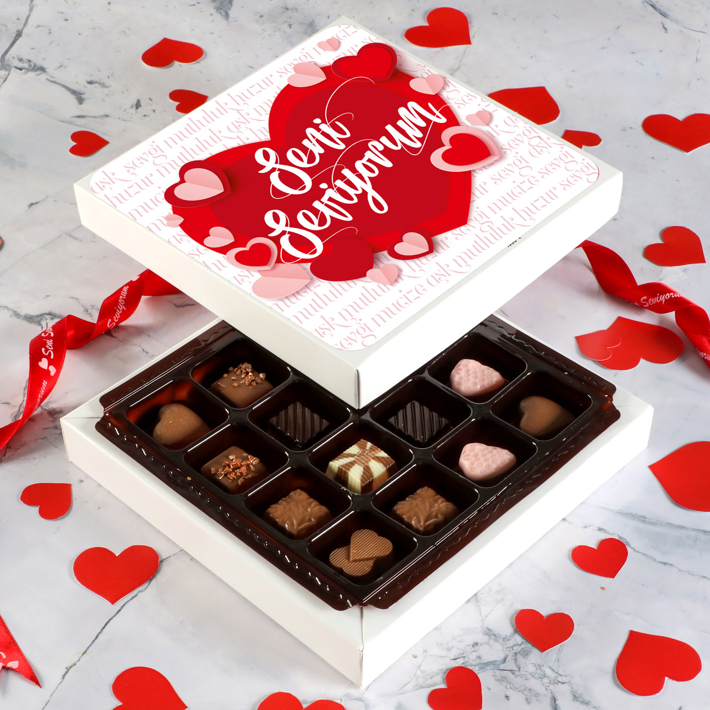 Hacı Şerif - Sevgililer Gününe Özel Special Çikolata (Minik Lezzetler) Model:1