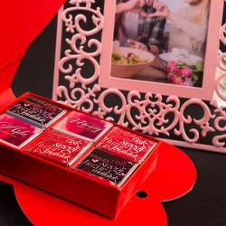 Sevgiliye Hediye Çerçeve Madlen Çikolata - Thumbnail
