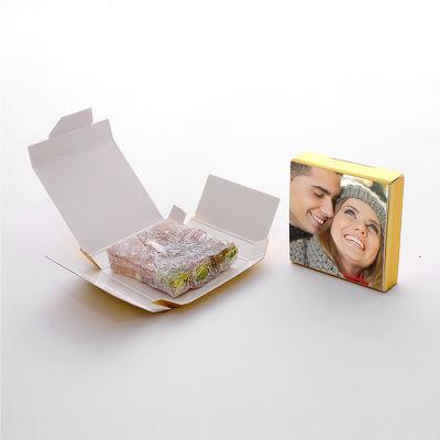 Sevgiliye Hediye Fotoğraflı Yapboz Çifte Kavrulmuş Lokum 16 Adet
