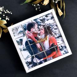 Sevgiliye Hediye Fotoğraflı Yapboz Çifte Kavrulmuş Lokum 16 Adet - Thumbnail