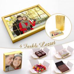 Hacı Şerif - Kendi Fotoğrafınız ile Sevgiliye Hediye Yapboz Çikolata (4 Farklı Lezzet) 24lü