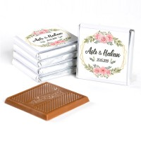 İsimli Söz Nişan Çikolatası (72 Adet Madlen Çikolata) Gold Kutu - Thumbnail