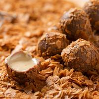 Special Tahinli Truffle Çikolata Bordo Kutu 22 Adet - Thumbnail