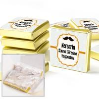 - Sünnet Şekeri Çifte Kavrulmuş Lokum (Etiketli Gold Kutu)