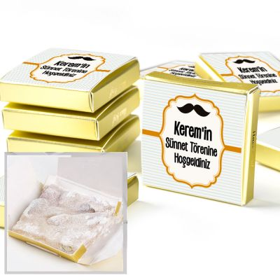 Hacı Şerif - Sünnet Şekeri Çifte Kavrulmuş Lokum (Etiketli Gold Kutu)