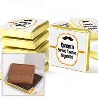 Hacı Şerif - Sünnet Şekeri Madlen Çikolata (Etiketli Gold Kutu)