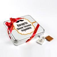 - Sünnet Şekeri(32 Adet Madlen Çikolata) Metal Kutu