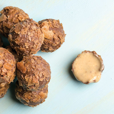 Tahinli Truffle Çikolata (Metal Kutu)