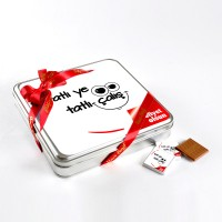 Tatlı Ye Tatlı Çalış(32 Adet Madlen Çikolata) Metal Kutu - Thumbnail